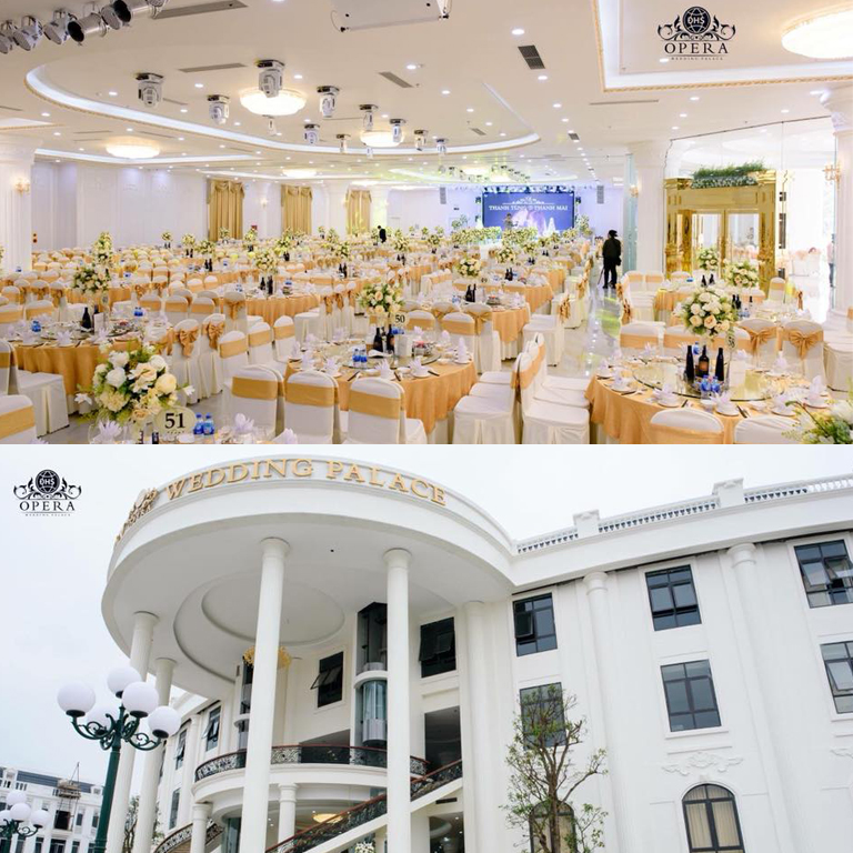 LA-110 single 10'' line array in Opera wedding hotel in Vietnam